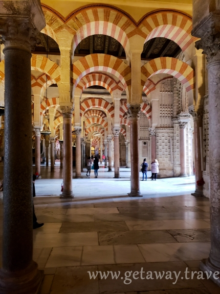 The Mezquita with Red and White striped arches