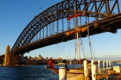 Sydney-Australia Harbour Bridge from Rocks neighborhood